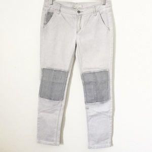 Free People Patched Knee Jeans
